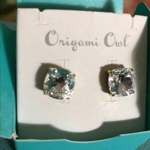 Origami Owl Jewelry - Silver Clara Gold Stud Swarovski Crystal